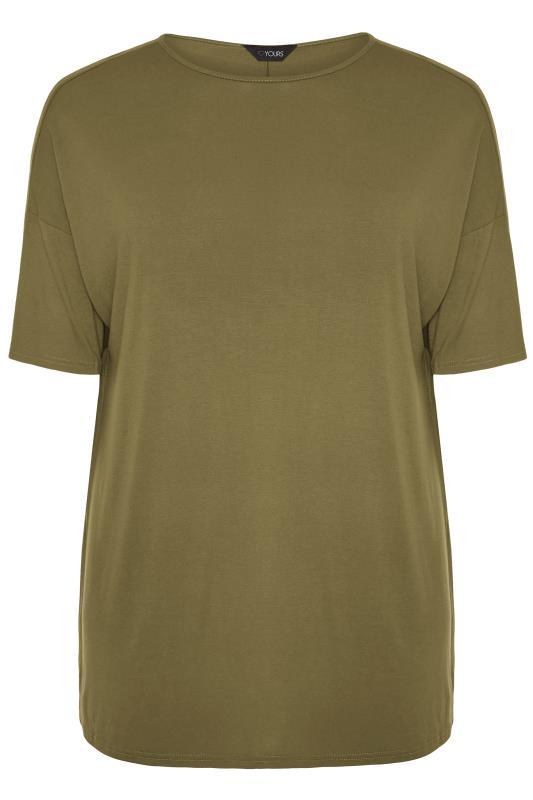 Khaki Jersey Oversized T-Shirt