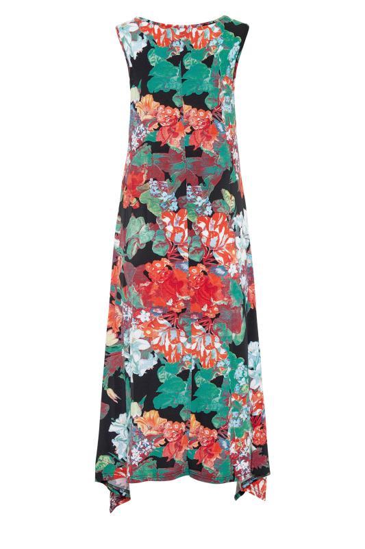 LTS Multi Floral Hanky Hem Sleeveless Dress_bk.jpg