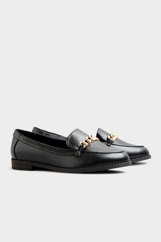 Black Chain Loafers In Extra Wide Fit_C.jpg