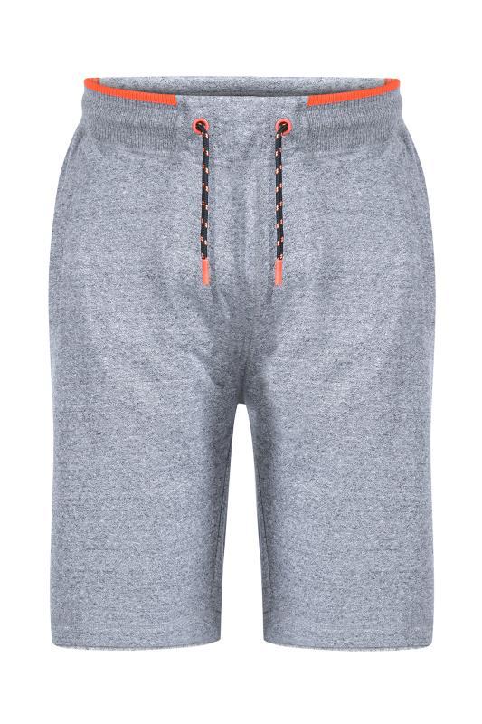 Men's  D555 Grey Ribbed Waist Fleece Shorts
