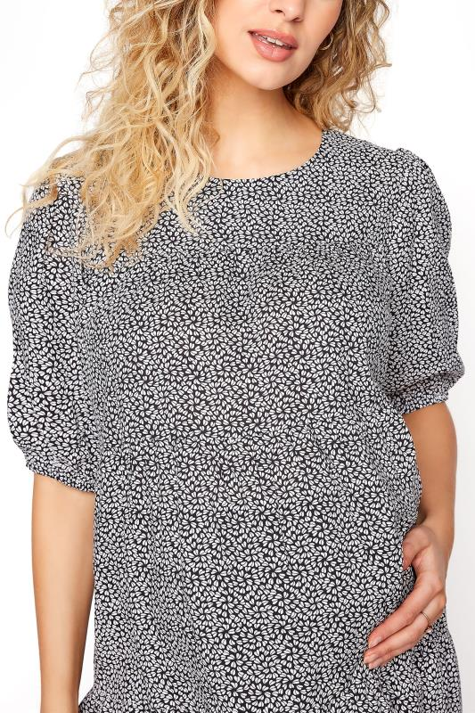 LTS Maternity Ditsy Tiered Balloon Sleeve Top_D.jpg