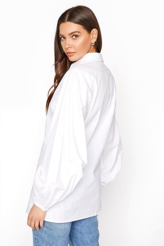 LTS White Balloon Sleeve Cotton Shirt_C.jpg