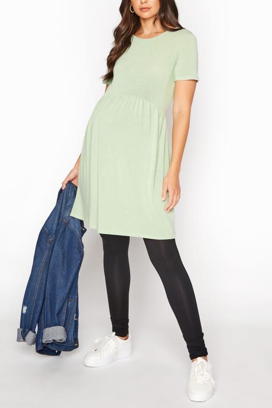 LTS Maternity Green Smock Top_B.jpg
