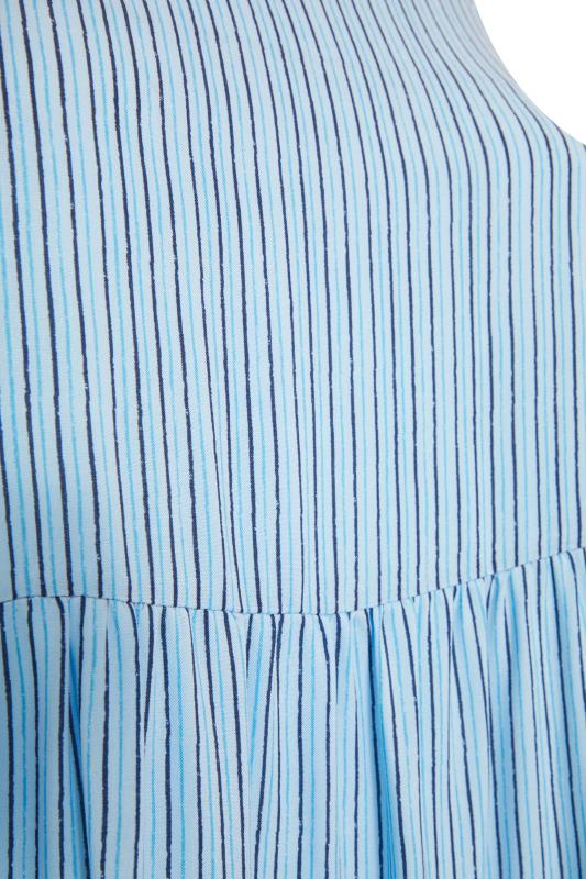 YOURS LONDON Blue Stripe Frill Tiered Midi Dress_S.jpg