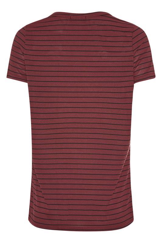 LTS Burgundy Stripe Rib T-Shirt_BK.jpg