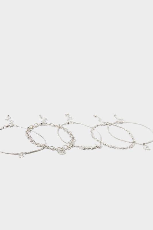 Silver 5 Pack Star Bracelet Set