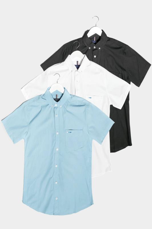 Men's  BadRhino Multi 3 Pack Cotton Poplin Short Sleeve Shirts