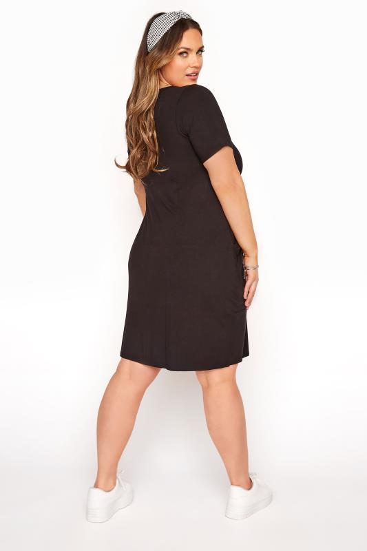 SUSTAINABLE ORGANIC Black Drape Pocket Dress_C.jpg