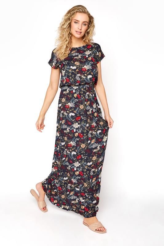 LTS Navy Floral Tie Back Maxi Dress_A.jpg