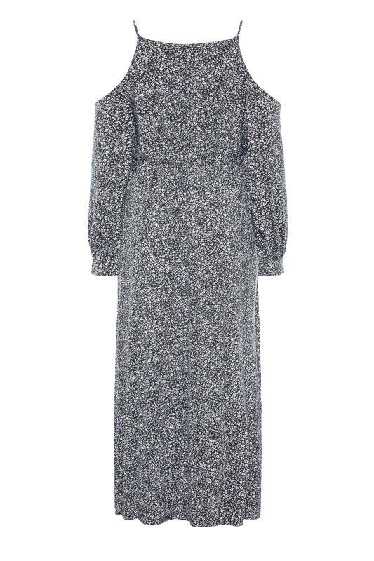 Black Floral Cold Shoulder Maxi Dress_BK.jpg