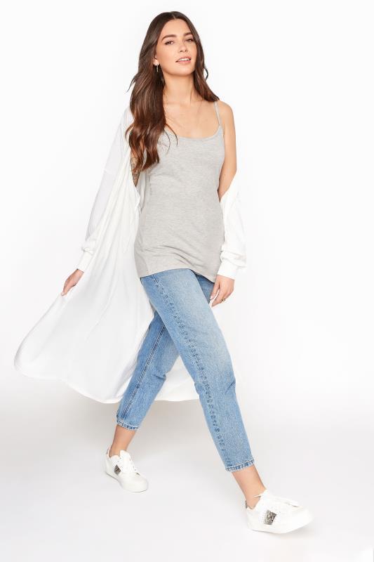 Grey Cotton Stretch Cami