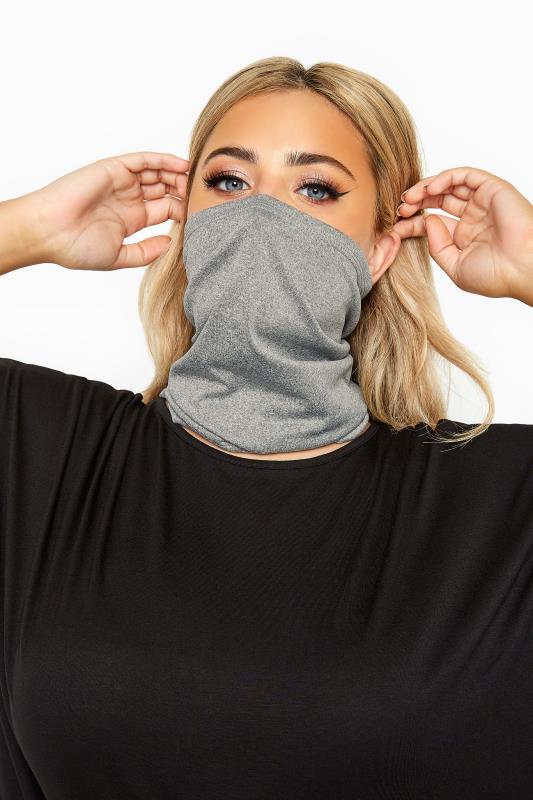 Plus Size  Grey Snood Face Mask