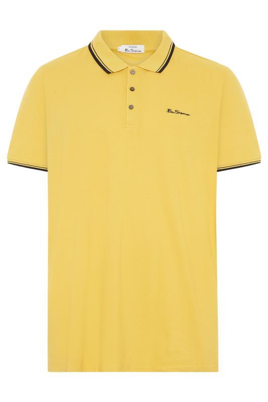 BEN SHERMAN Yellow Tipped Polo Shirt