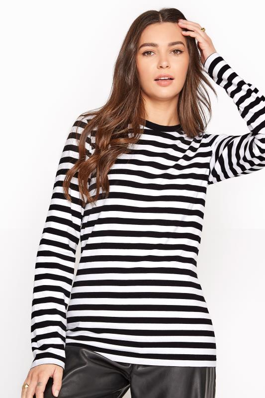 Black & White Stripe Long Sleeve Top_A1.jpg