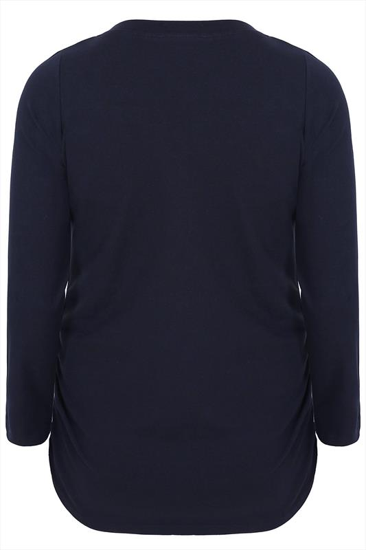 BUMP IT UP MATERNITY Navy Cotton Long Sleeved Top