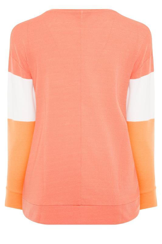 Orange Colour Block 'California' Slogan Sweatshirt_BK.jpg