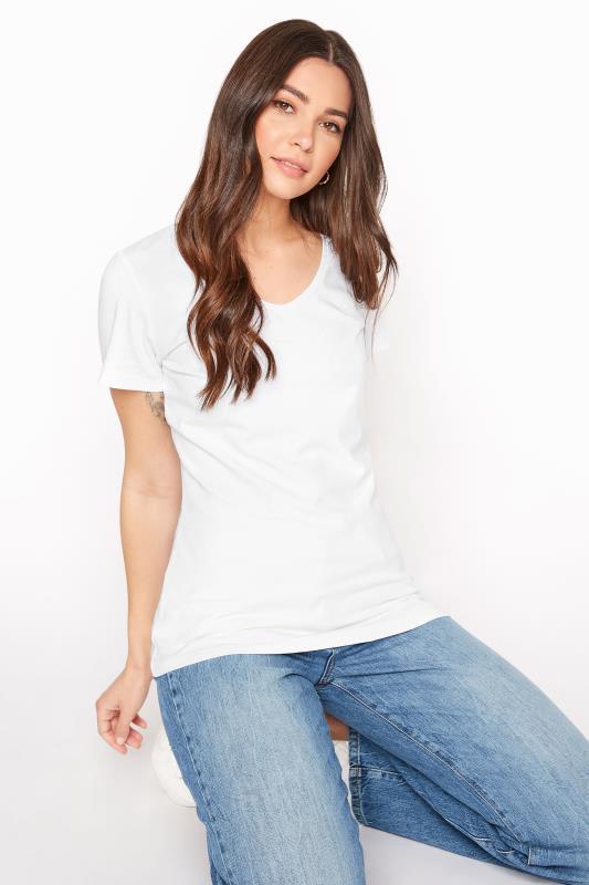 White Cotton Stretch V-Neck T-Shirt_A.jpg