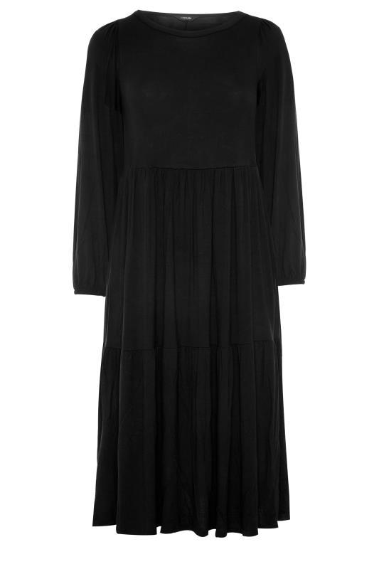 Black Balloon Sleeve Midaxi Dress_F.jpg