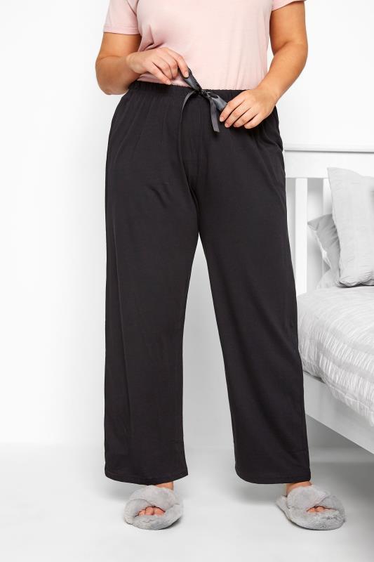 Black Basic Cotton Pyjama Bottoms_056793B.jpg