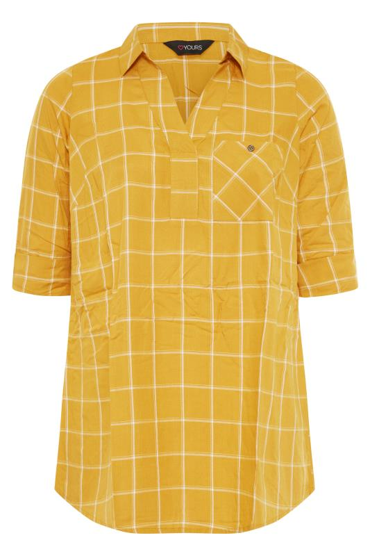 Mustard Yellow Overhead Check Shirt_F.jpg