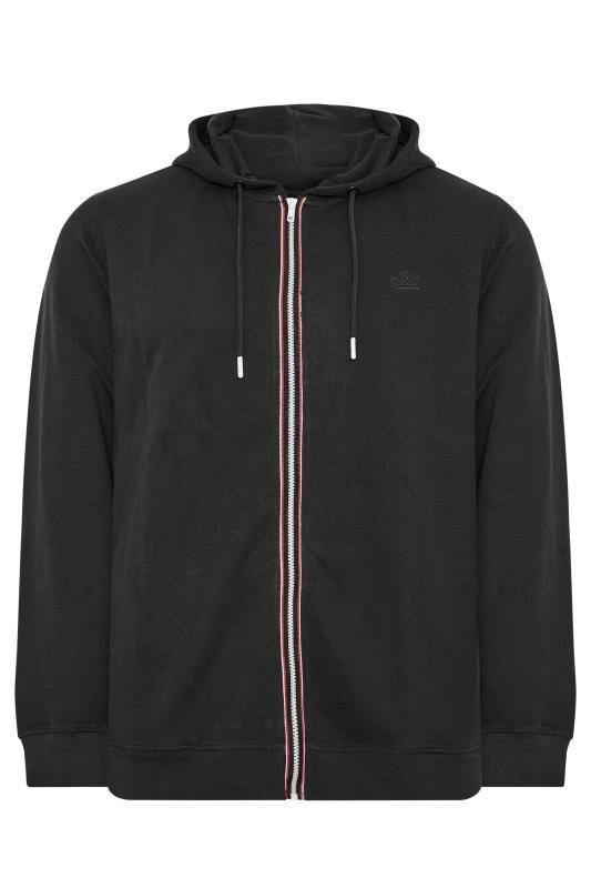 Grande Taille BLEND Black Zip Through Sweat Hoodie