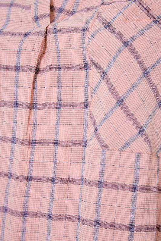 THE LIMITED EDIT Pink Check Pleated Front Top_S.jpg