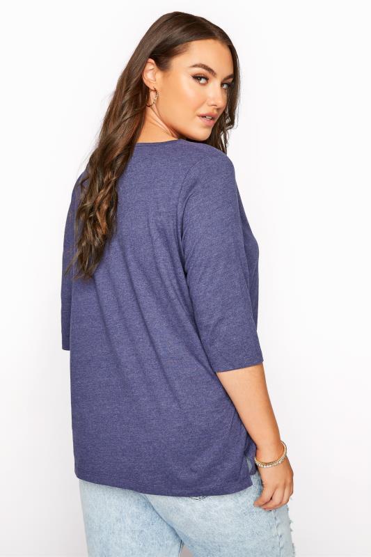 Denim Blue Marl V-Neck T-shirt_C.jpg