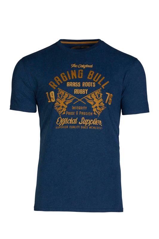 RAGING BULL Navy Grass Roots T-Shirt_F.jpg