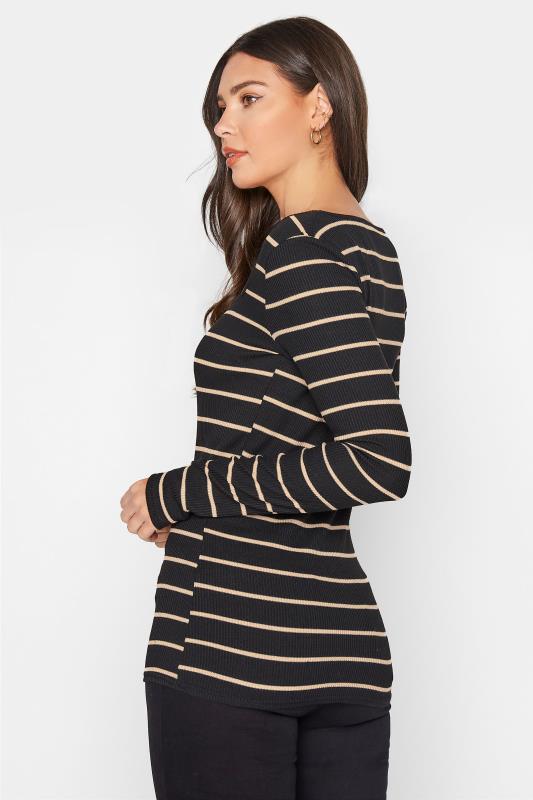 LTS Black Square Neck Stripe T-Shirt_C.jpg
