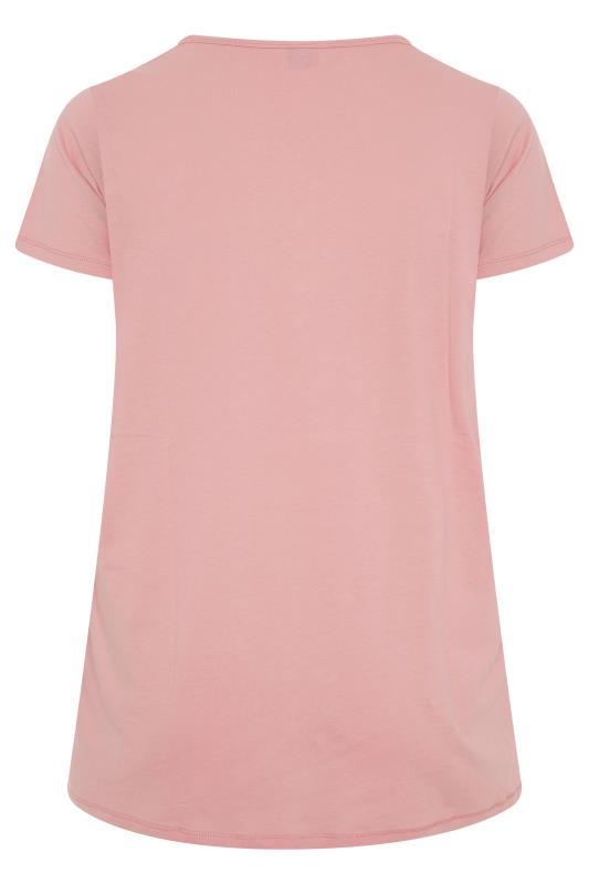 Pink Button Scoop Neck Pyjama Top_BK.jpg