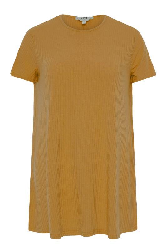 LTS Mustard Yellow Swing Ribbed T-Shirt_F.jpg
