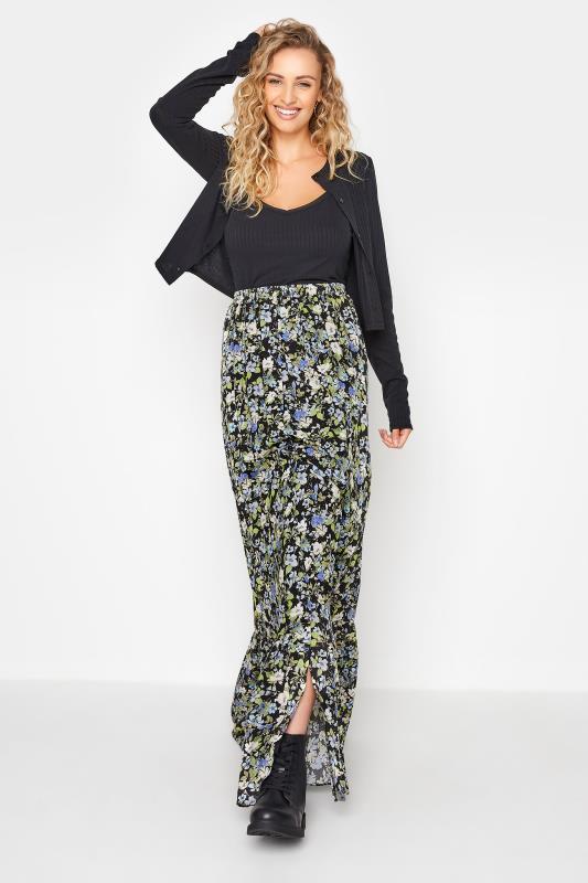 Tall  LTS Black Floral Print Maxi Skirt