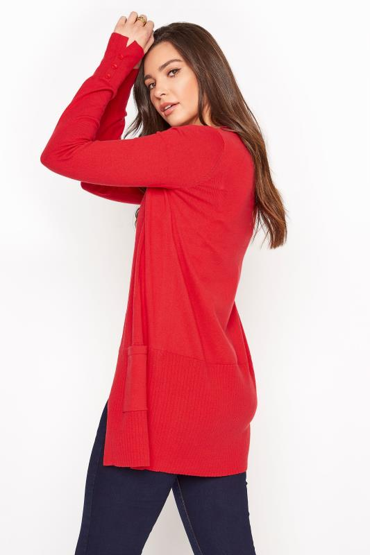 Red Cotton Ribbed Trim Cardigan_C.jpg