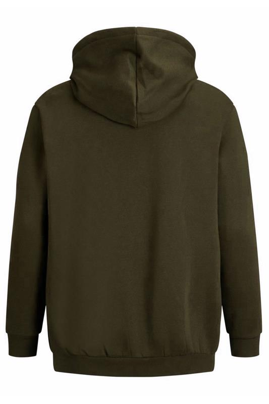 JACK & JONES Khaki Logo Zip Through Hoodie