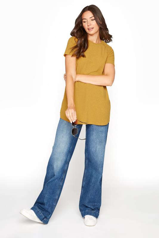 LTS Mustard Yellow Swing Ribbed T-Shirt_B.jpg