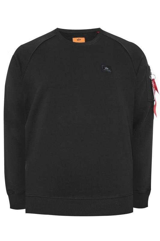 Plus Size Sweatshirts ALPHA INDUSTRIES Black X-Fit Sweatshirt