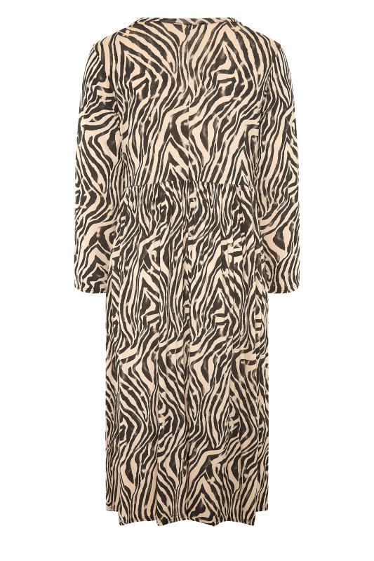 LIMITED COLLECTION Beige Zebra Print Smock Midaxi Dress_BK.jpg
