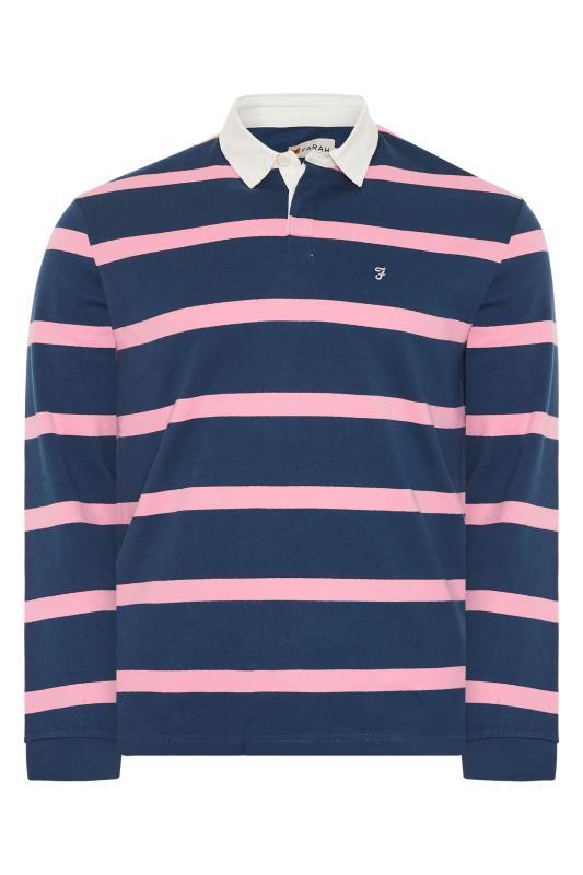 FARAH Navy Stripe Polo Shirt_F.jpg