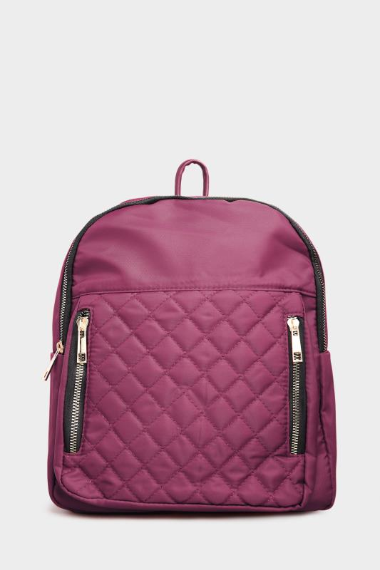Purple Quilted Backpack