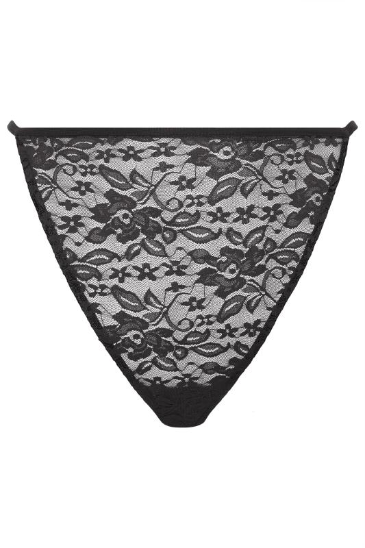 LIMITED COLLECTION Black Lace Thong
