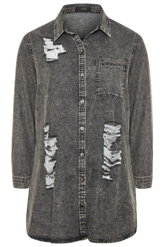 Grey Acid Wash Distressed Denim Shirt_F.jpg