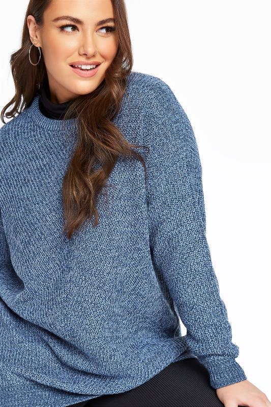 Blue Marl Chunky Knitted Jumper_D.jpg