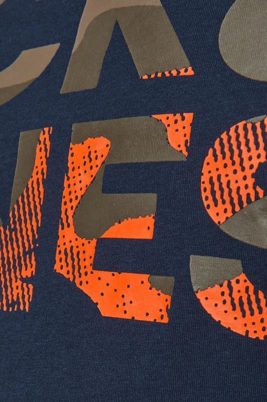 JACK & JONES Navy Camo Logo T-Shirt_S.jpg