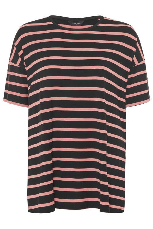 Black Oversized Stripe T-Shirt_F.jpg