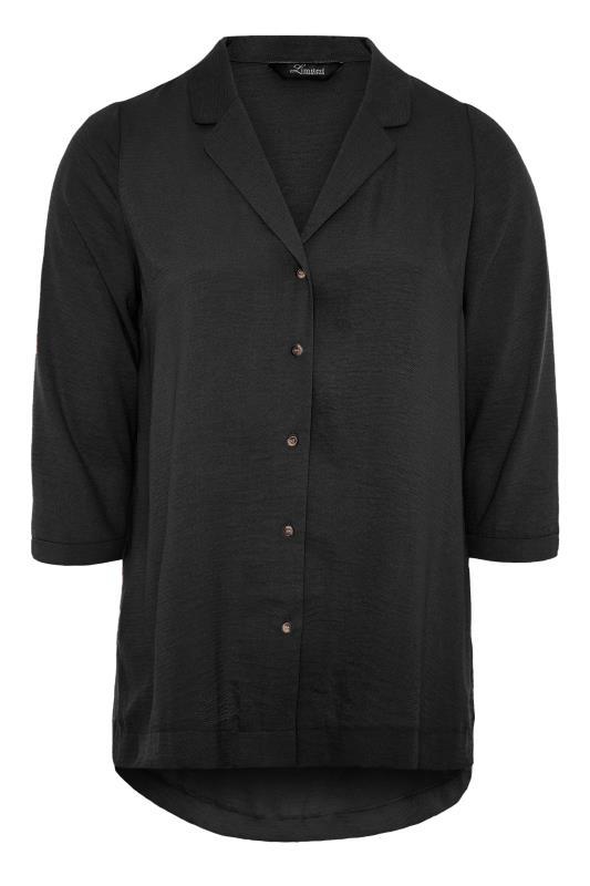 THE LIMITED EDIT Black Open Collar Blouse_F.jpg