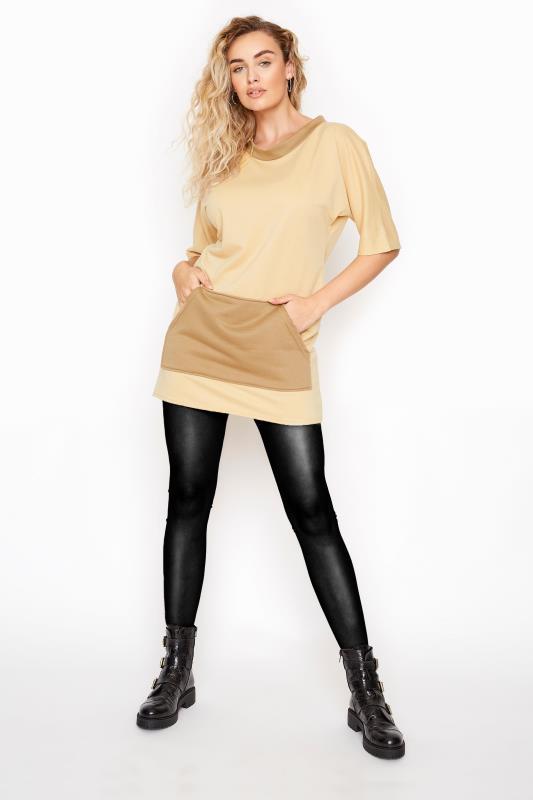 LTS Beige Contrast Tunic Sweatshirt_A.jpg