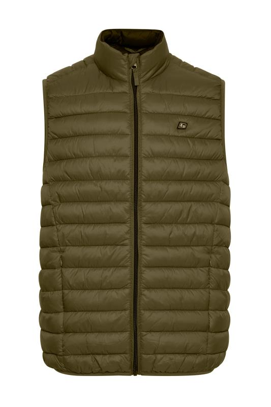 Plus Size  BLEND Green Padded Gilet
