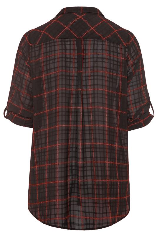 Black & Red Check Boyfriend Shirt
