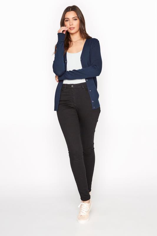 Navy Buttoned Knitted Cardigan_B.jpg