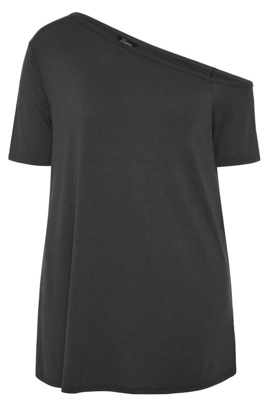 LIMITED COLLECTION Black Asymmetric Basic Top